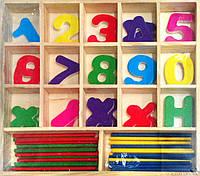 Набор счётных палочек с цифрами и арифметическими знаками, фото 1