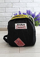 Рюкзак черный плащевка с желтыми вставками код 7-938