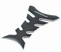 Наклейка на бак мотоцикла Progrip Silver 3D \ Код KS07014