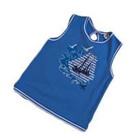 Футболка для девочки синяя с корабликом ТМ Бемби (р.104, 116)