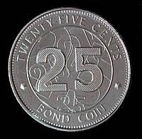 Монета Зимбабве 25 центов 2014 г.