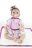 Силиконовая Коллекционная Кукла Реборн Reborn Девочка ( Виниловая Кукла ) Высота 55 см. Арт.351, фото 1