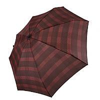 Компактный механический зонт Swifts на 8 спиц в клеточку, бордовый цвет, 1771-2