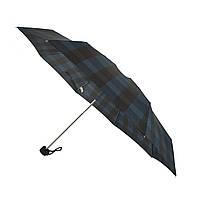 Компактный механический зонт Swifts на 8 спиц в клеточку, синий цвет, 1771-4