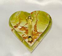 "Подставка под ручку ""Сердце"" из оникса ( 12х12 см)"