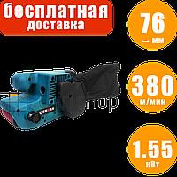 Ленточная шлифовальная машина Erman BS 102, шлифмашина ленточная по дереву, 76 мм