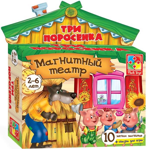"""Магнітний театр """"Три порося"""" VT3206-11 Vladi Toys"""