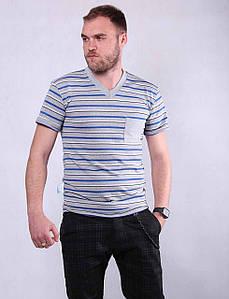 Мужская трикотажная футболка В НАЛИЧИИ ТОЛЬКО  р. 46 (1)48 (5)52  56 (синяя)60 64( цвет как главная фотка!)