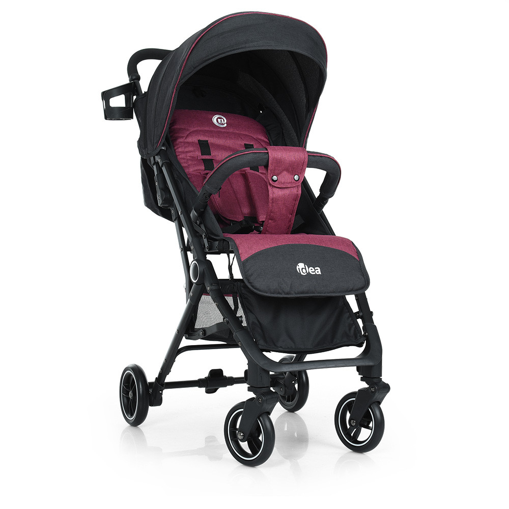 Прогулянкова дитяча коляска-книжка ME 1039L IDEA Rose Gray Гарантія якості Швидкість доставки