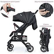 Прогулянкова дитяча коляска-книжка ME 1039L IDEA Rose Gray Гарантія якості Швидкість доставки, фото 5