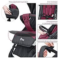Прогулянкова дитяча коляска-книжка ME 1039L IDEA Rose Gray Гарантія якості Швидкість доставки, фото 3
