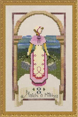 Схема для вышивки Eight Maids A Milking Nora Corbett
