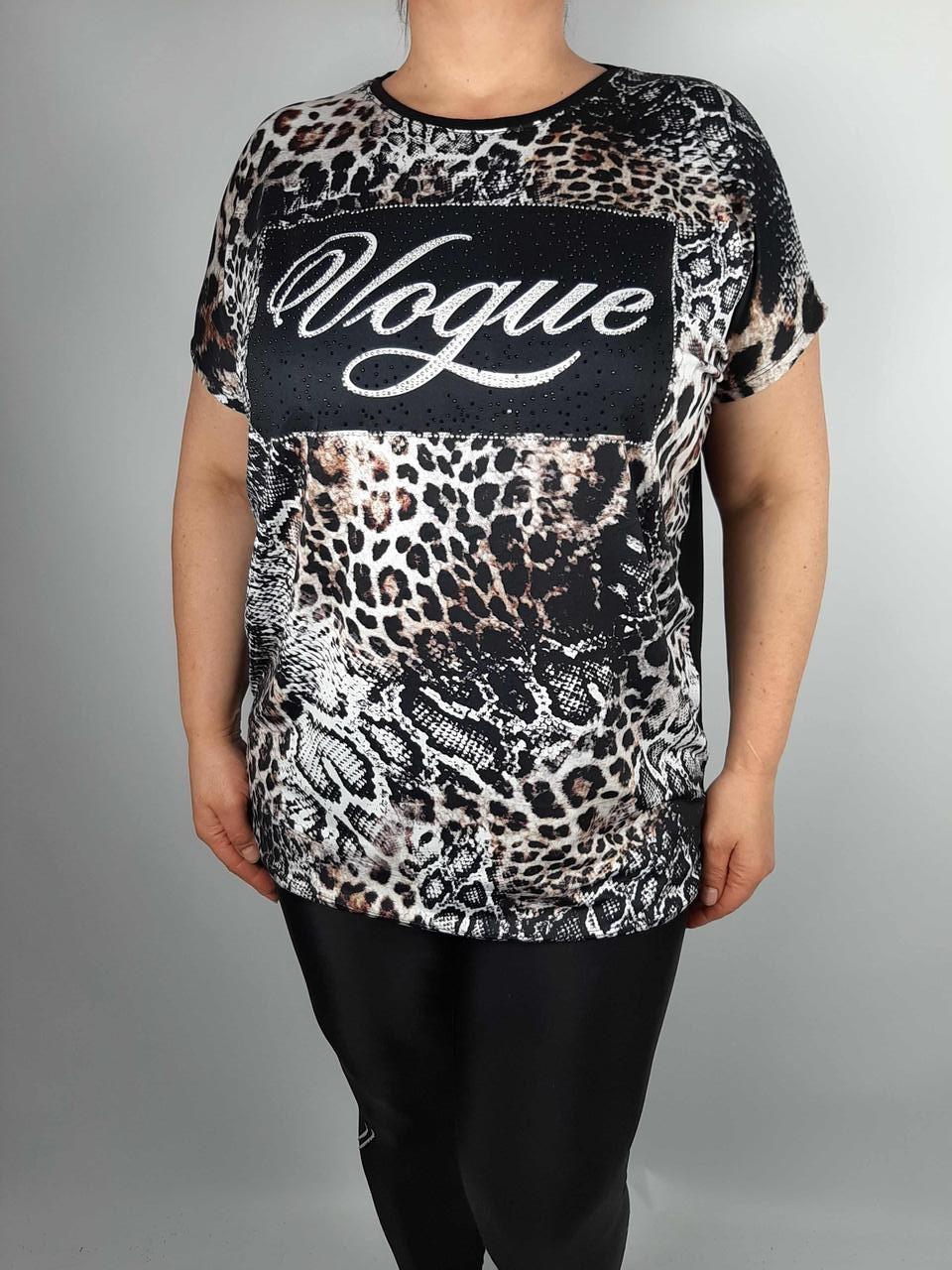 Красивая женская футболка батального размера