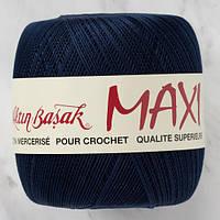 Пряжа Altin BasakMaxi 9909 темно-синий (Алтын Башак Макси) 100% мерсеризованный хлопок