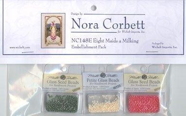 Набор бисера к схеме Eight Maids A Milking Nora Corbett Embellishment Pack