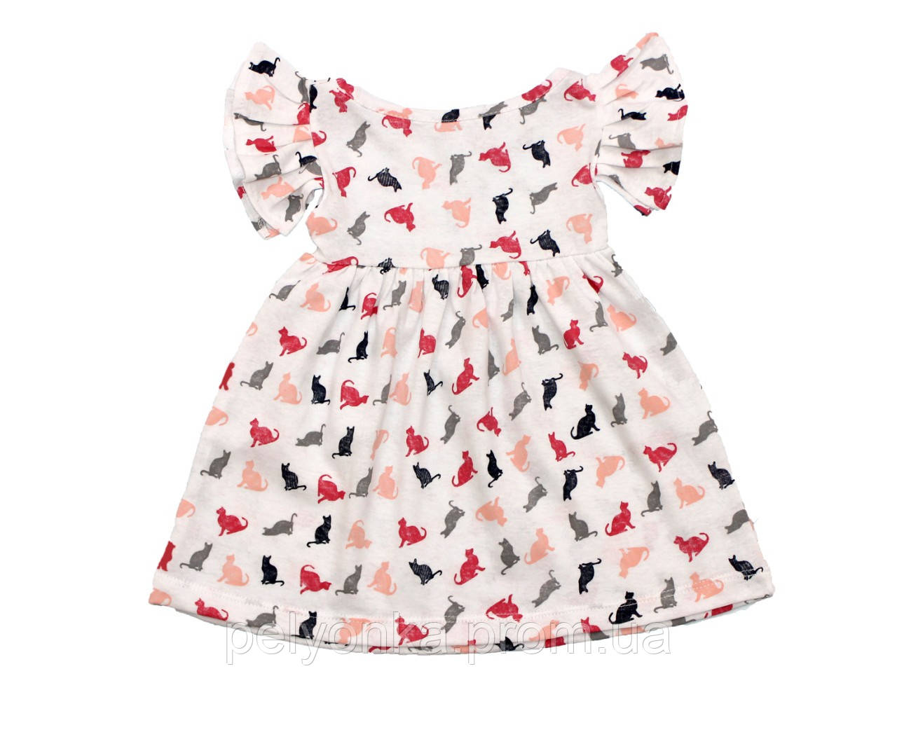 Детское летнее платье «Котики»для девочек