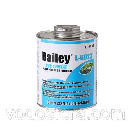 Bailey Клей для труб ПВХ Bailey L-6023 946мл