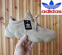 Летние кроссовки Адидас - Adidas Yeezy Boost 500. Кроссовки кожа + сетка. Реплика. Вьетнам.
