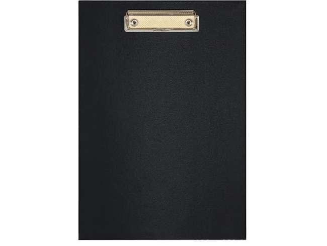 Папка-планшет А4 с прижимом, пластик, черная E30154-01