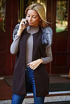 Х8005 Пальто-жилетка кашемир в расцветках, фото 2