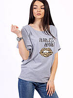 🌺 Молодежные женские футболки 2019, серая футболка женская