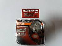 Лампа галогенка H4 12v 55-60W Osram Night Breaker Silver +100 к-т 2шт.