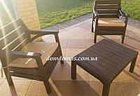 """Комплект садовой мебели """"Barselona"""" (стол, 2 кресла) Irak Plastik, Турция"""