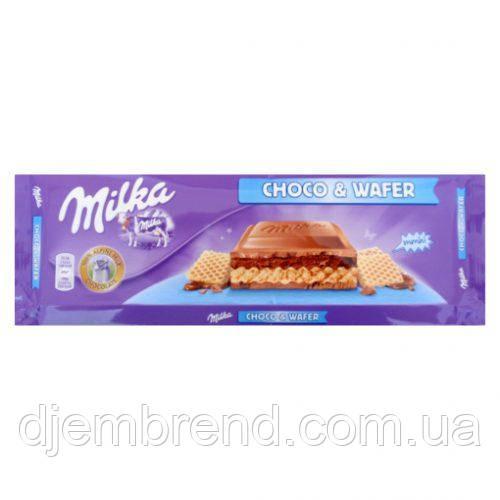 Шоколад Milka Choco Waffel 300 г. Швейцария