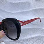 Стильные черные очки jimmy choo с красными дужками, фото 6