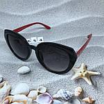 Стильные черные очки jimmy choo с красными дужками, фото 9