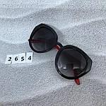Стильные черные очки jimmy choo с красными дужками, фото 5