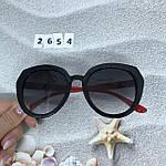 Стильные черные очки jimmy choo с красными дужками, фото 3