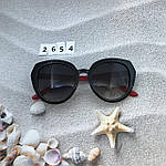 Стильные черные очки jimmy choo с красными дужками, фото 4