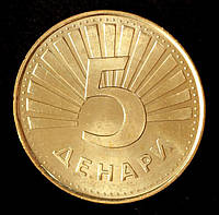 Монета Македонії 5 denarów 2008 р. Рись