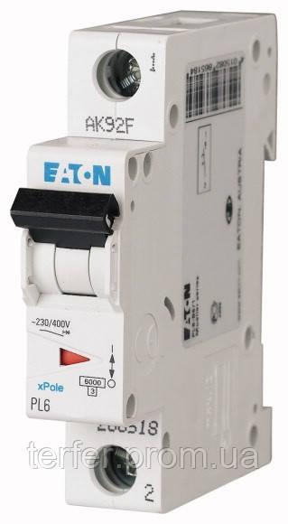 Автоматичний вимикач 50А, х-ка С, 1 полюс,6 кА PL6-C50/1
