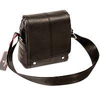 Мужская сумка Eminsa 6070-18-1 кожаная черная, фото 1