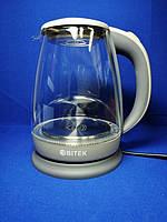 Стильный электрочайник Bitek BT-3110 (Серый) 1.8л 2400 Ватт LED подсветка, фото 1