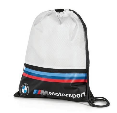 Оригінальна спортивна сумка-мішок BMW M Motorsport Sports Bag, White / Black, артикул 80282461128