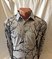 Рубашка мужская стрейч-котон