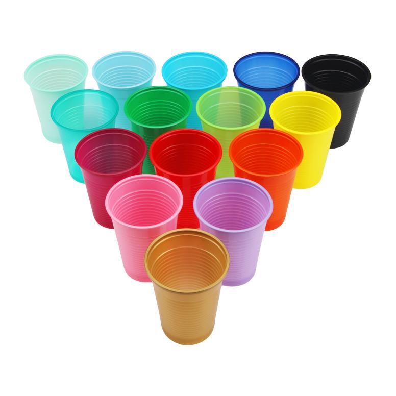 Одноразові пластикові стакани - 100 шт/уп, жовтий