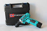 Аккумуляторный Шуруповерт Kronor KR16 с 1 аккумулятором! (зеленый)
