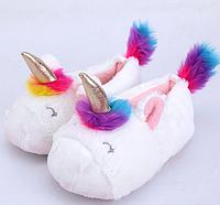 Детские тапочки игрушки Единороги, фото 1