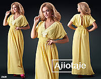 Стильное летнее женское платье в пол с открытой спинкой