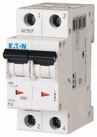 Автоматичні вимикачі PL6 (характеристика C 6kA) EATON 2-полюсні