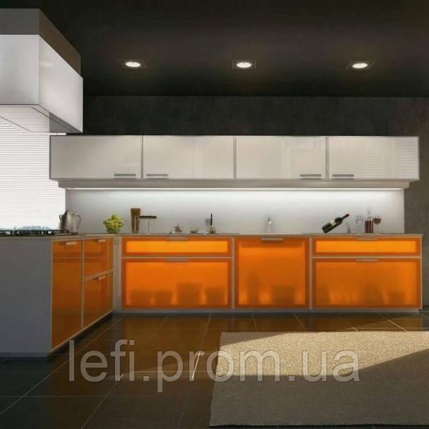 Кухня-Фасады Стекло в алюминиевой рамкена фурнитуре Linken System или GTV