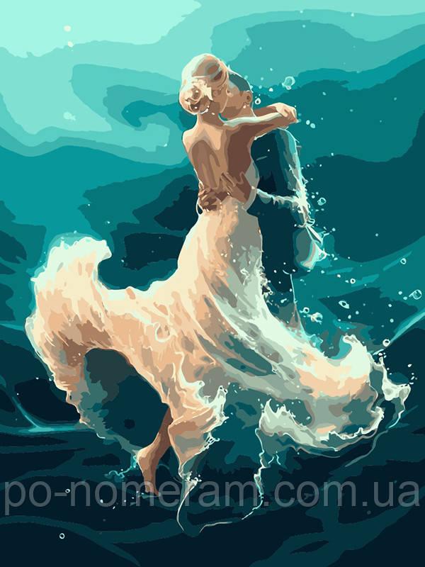 Раскраска для взрослых На волне танца (KHO4566) 40 х 50 см ...