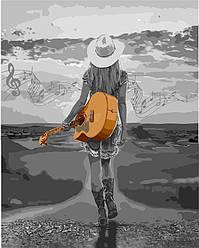 Раскраска для взрослых На волнах музыки (KH4571) 40 х 50 см Идейка