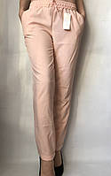 Женские брюки летние 216 (42 44 46 48) (цвет пудра) СП