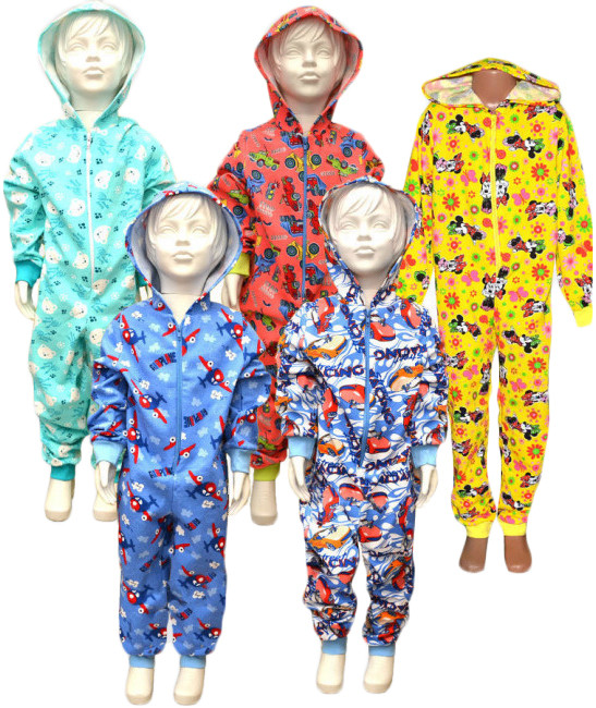 Пижама спальник (комбинезон) детский теплый на байке 01243 Гулливер, р.р.28-36