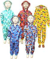 Пижама спальник (комбинезон) детский теплый на байке 01243 Гулливер, р.р.28-36, фото 1